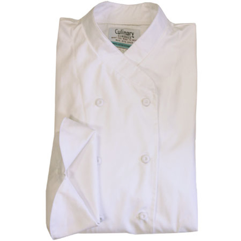 Women's Imperial Chef Coat in White Egyptian Cotton