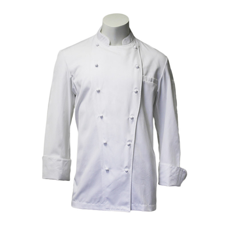 Traditional Chef Coat in White 100% Egyptian Cotton