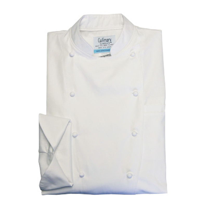 Women's Traditional Coat in White 100% Egyptian Cotton