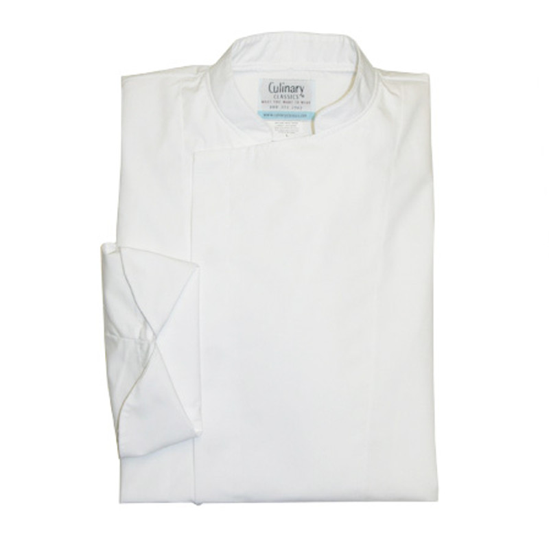 Epicurean Chef Coat in White Poplin