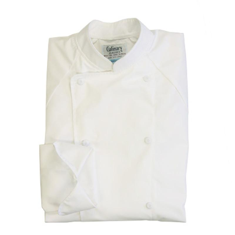 Raglan Chef Coat in White Poplin