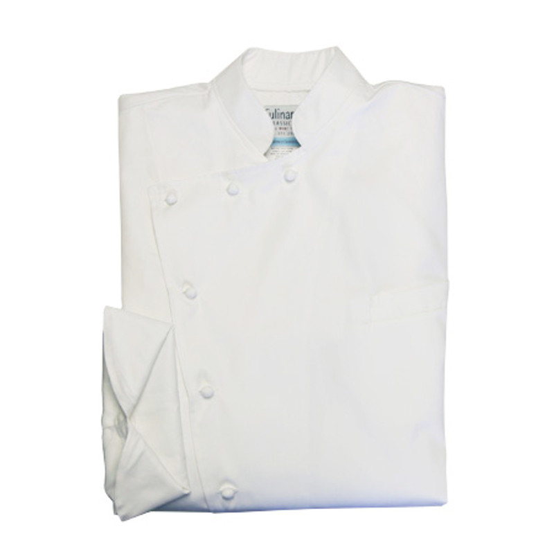 Bordeaux Chef Coat in White 100% Egyptian Cotton