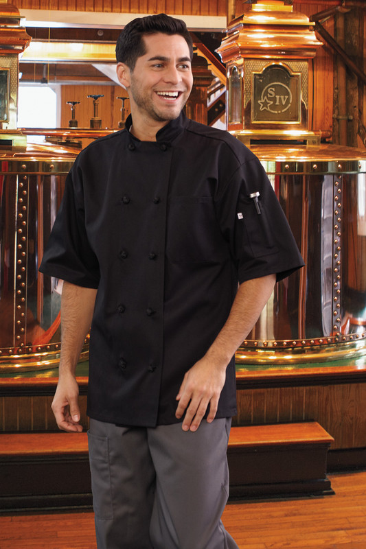 Monterey Chef Coat in Black
