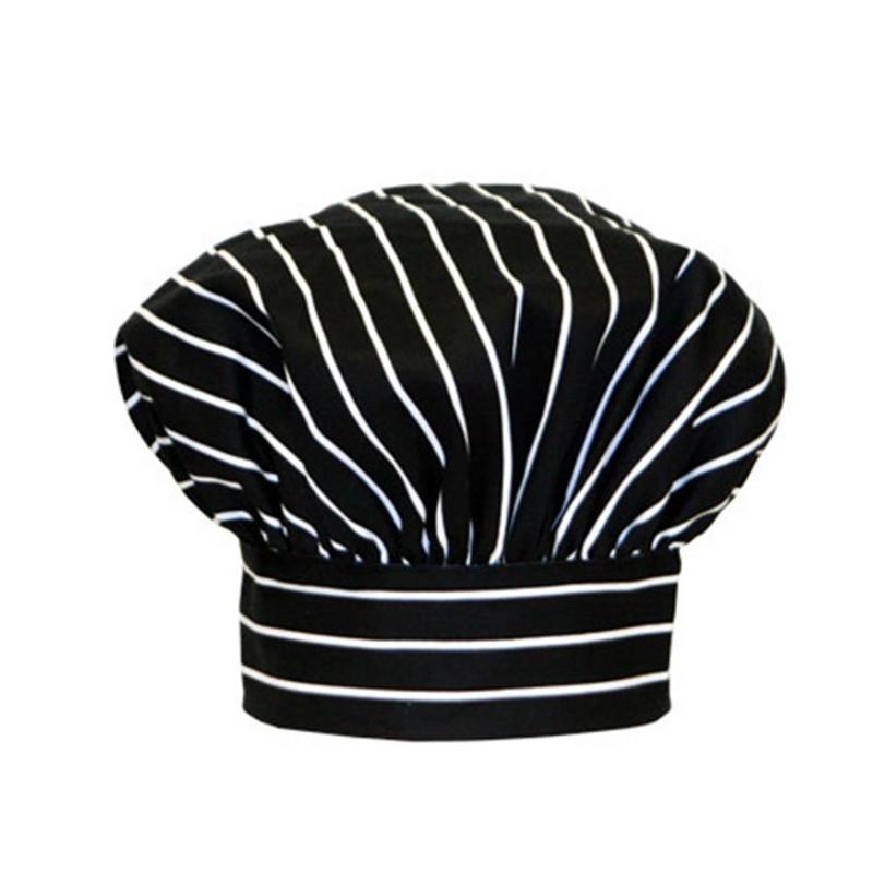 Premium Toque Hat in Big Pinstripe Black