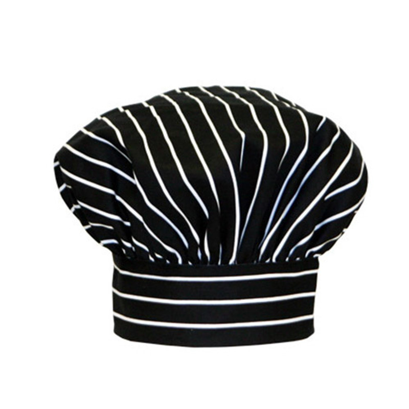 Premium Toque Hat in Big Pinstripe Black