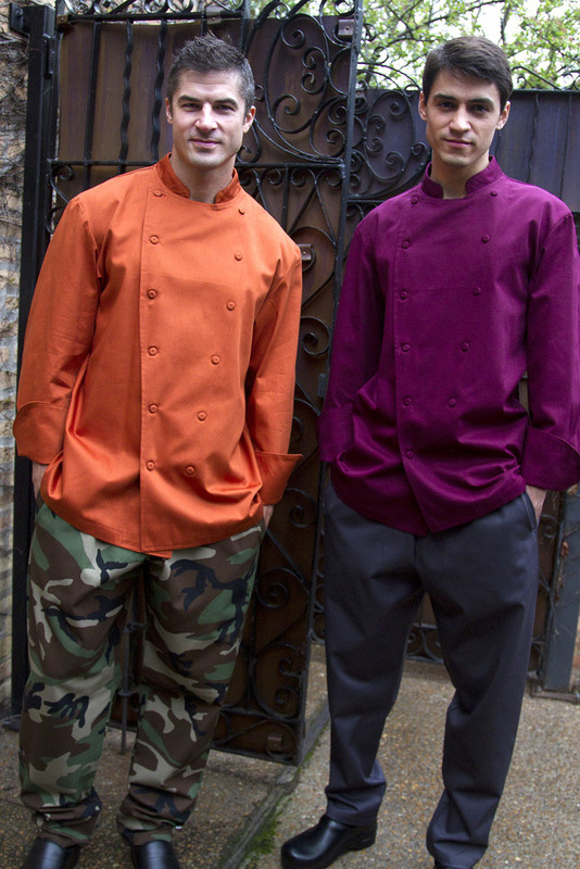 Traditional Chef Coat in 100% Organic Cotton Twill - more colors!