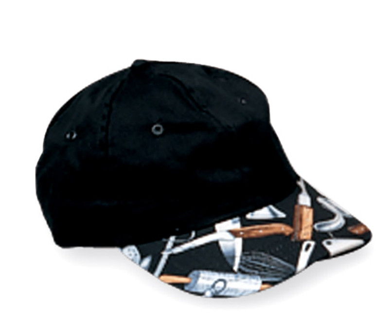 Premium Baseball Cap in Black with Cooking Utensils - limited edition