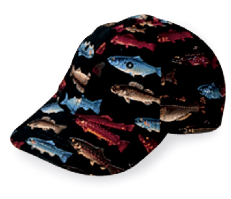 Premium Baseball Cap in Black Fishery - very limited edition