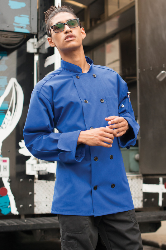 Moroccan Chef Coat in Royal