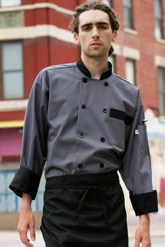 Newport Coat Slate with Black Trim