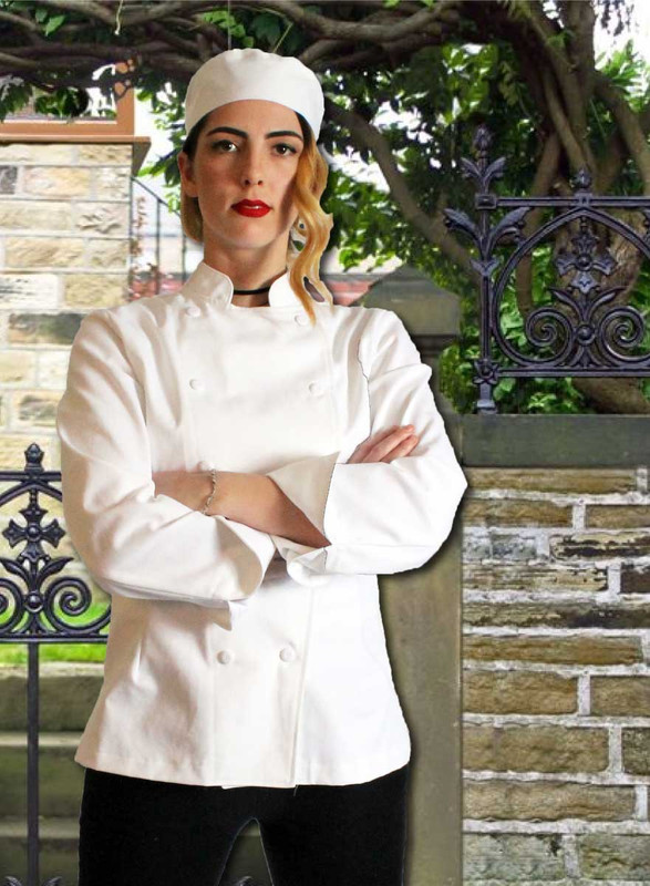 Women's Contempo Traditional Chef Coat Jacket