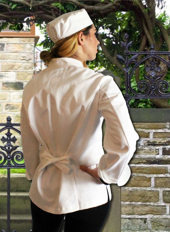 Womens Contempo Traditional Chef Coat Jacket