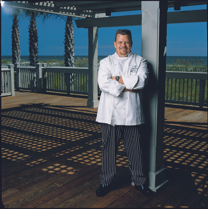 Traditional Chef Coat in White Egyptian Cotton with Royal Cording