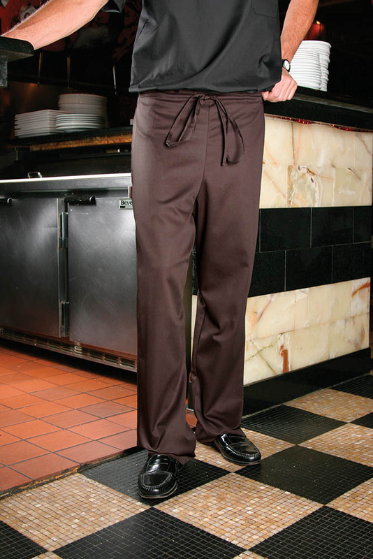 Scrub pants in Poplin Brown