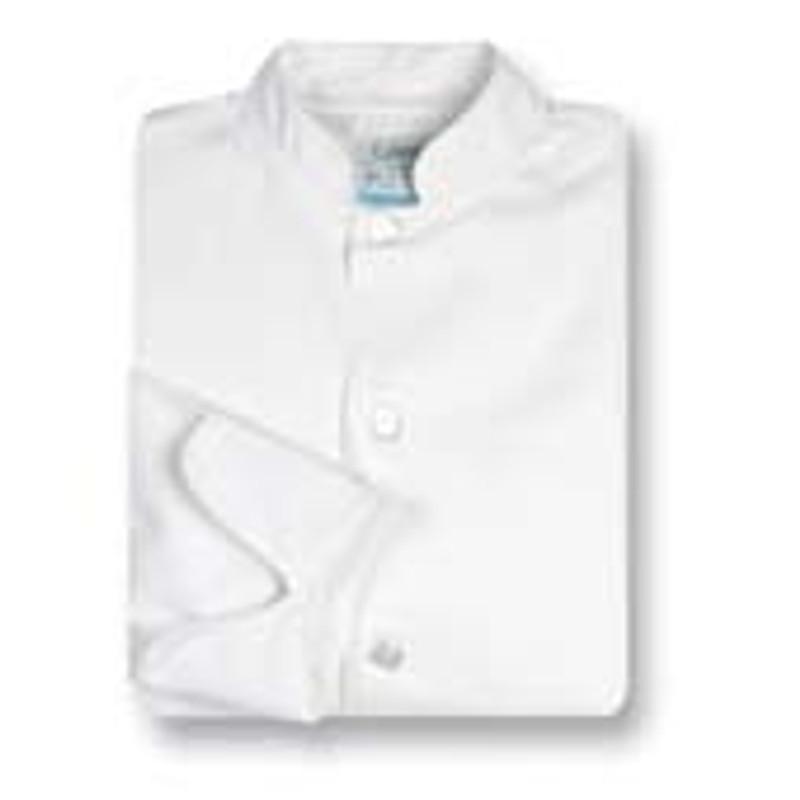 Women's Mandarin Coat in White Midweight Cotton