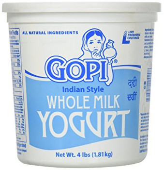 GOPI WHOLE MILK YOGURT - 4 LBS
