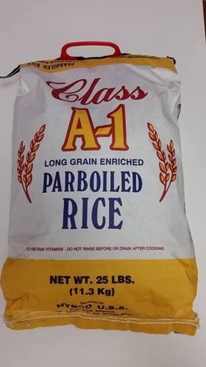 CLASS A1 PARBOILED RICE - 25LB