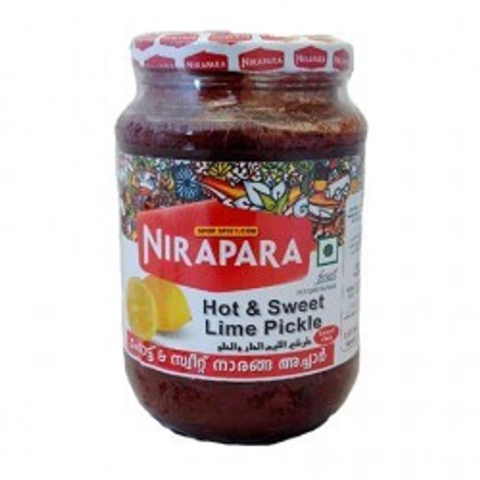 NIRAPARA HOT AND SWEET LEMON PICKLE-400GM