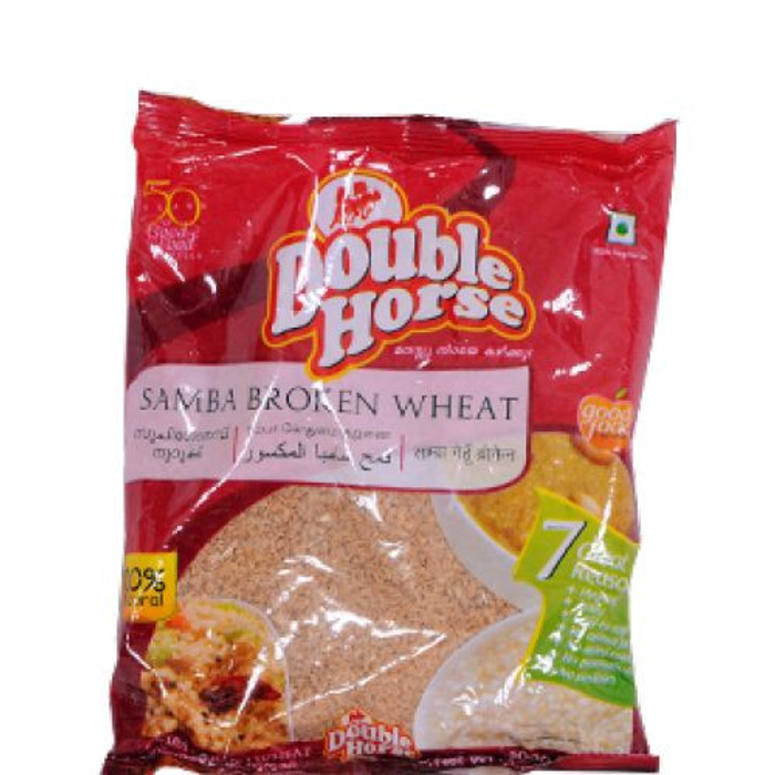 Double Horse Samba Broken Wheat - 1 kg