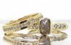 1.79 carat rough cocoa diamond six 2mm brilliant gray diamonds 14k yellow gold band with eternity Wedding Band with Gray Diamonds