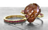 5.88 Carat Hand-Cut Ruby Ring in Yellow Gold