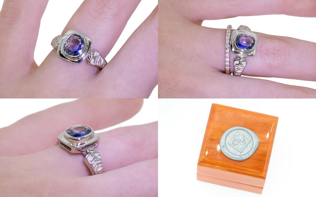 Limited Edition Sapphire Ring in White Gold - CHINCHAR•MALONEY
