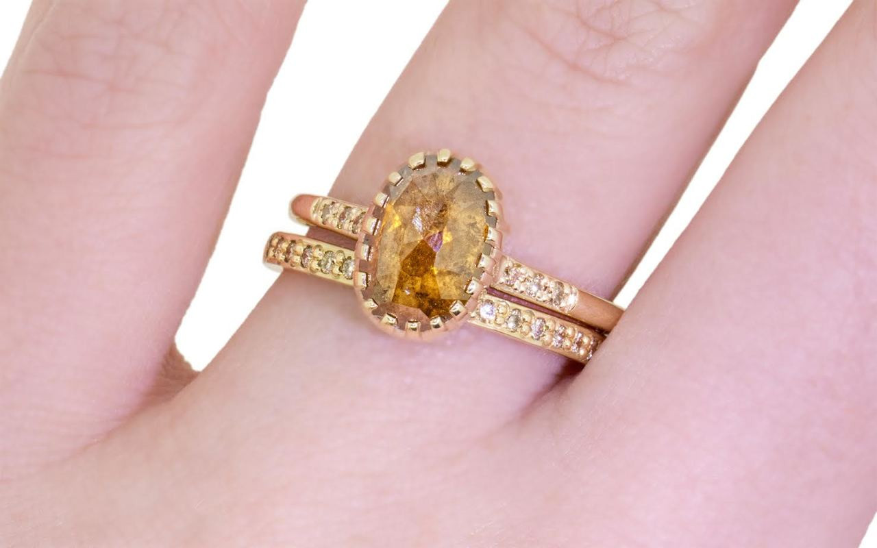 2.03 Carat Amber Diamond Ring in Yellow Gold - CHINCHAR•MALONEY