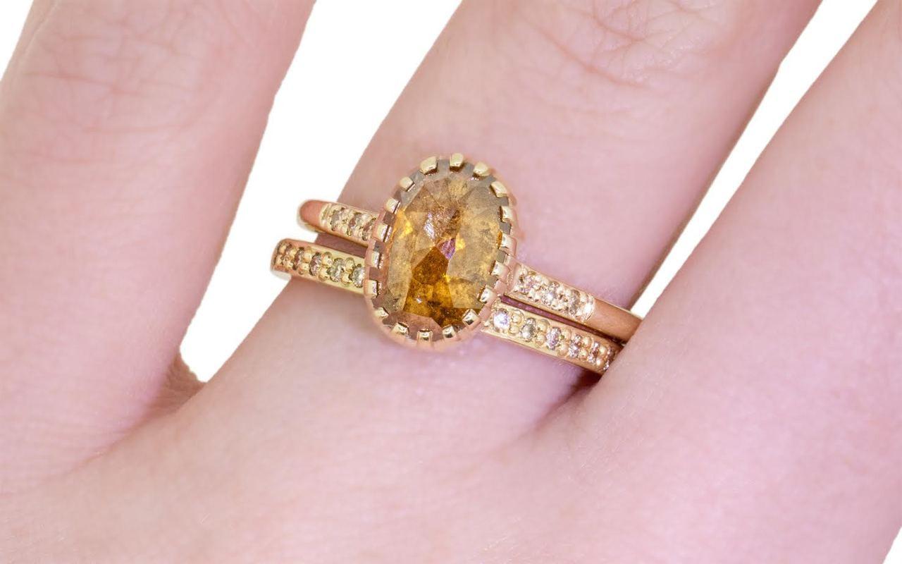 2.03 Carat Amber Diamond Ring in Yellow Gold - CHINCHAR•MALONEY