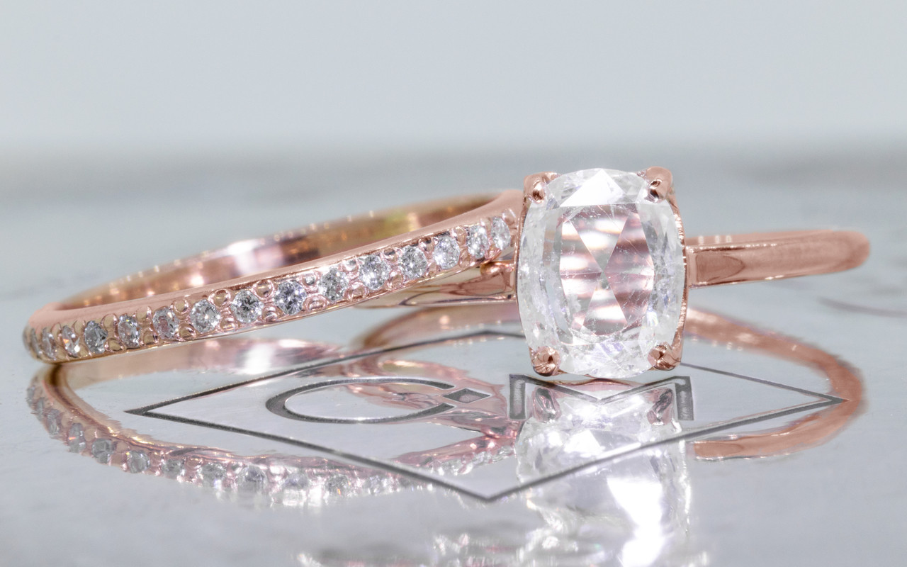 1 Carat Translucent White Diamond in Rose Gold CHINCHARMALONEY
