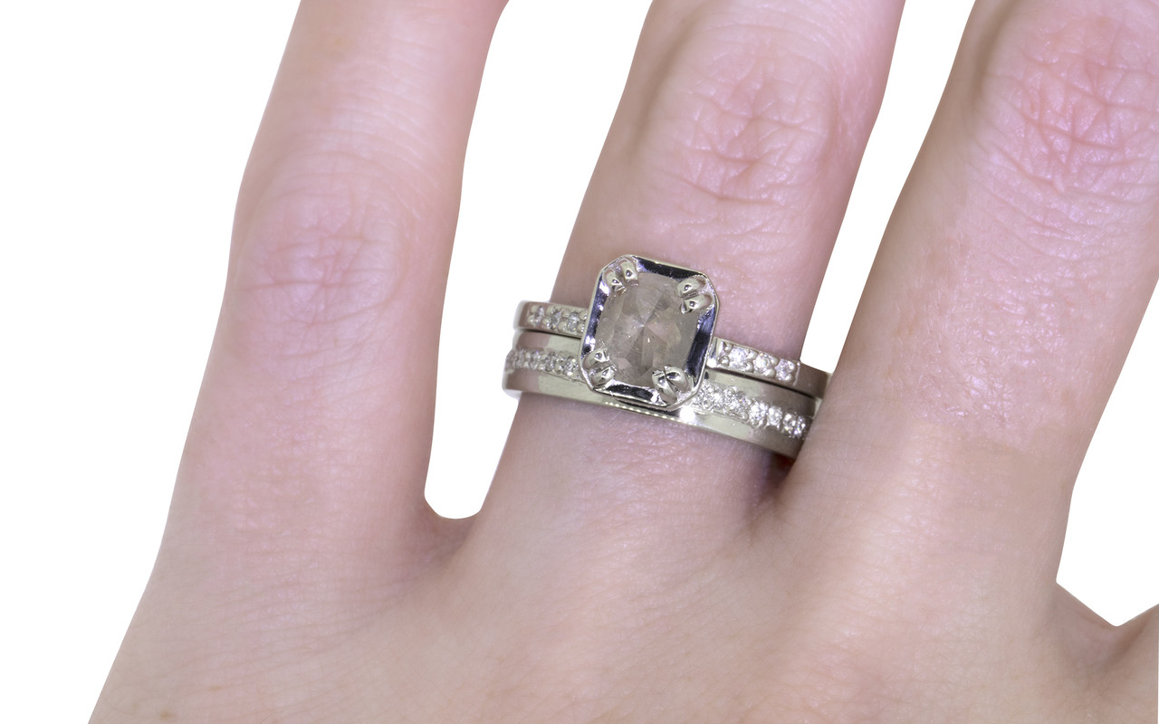 two engagement rectangular solitaire diamond ring cushion rings by london