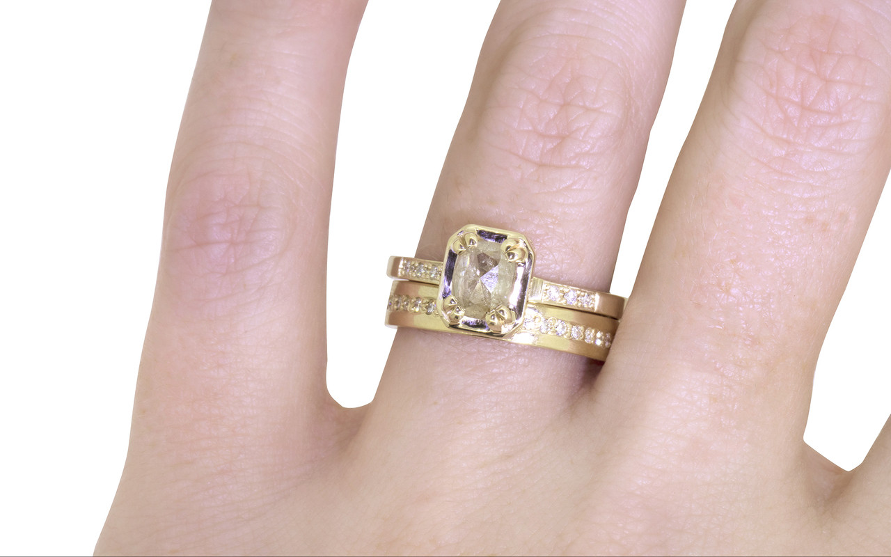 set carat gold a brilliant diamond baguette cut white solitaire yellow and accents channel product round with
