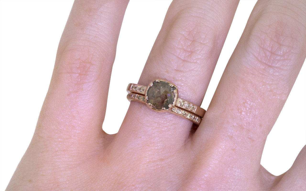 84 Carat Smoky Champagne Diamond Ring in Rose Gold - CHINCHAR•MALONEY