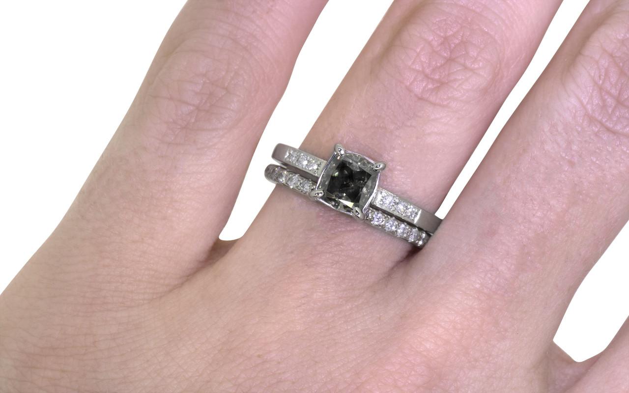 1.01 Carat Dark Champagne Diamond Ring in White Gold - CHINCHAR•MALONEY