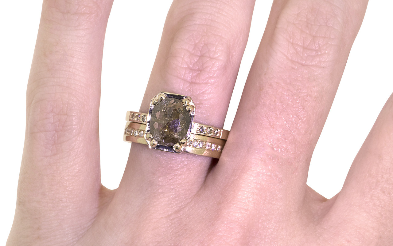 MAROA Ring in Yellow Gold with 1.58 Carat Cocoa Diamond - CHINCHAR ...