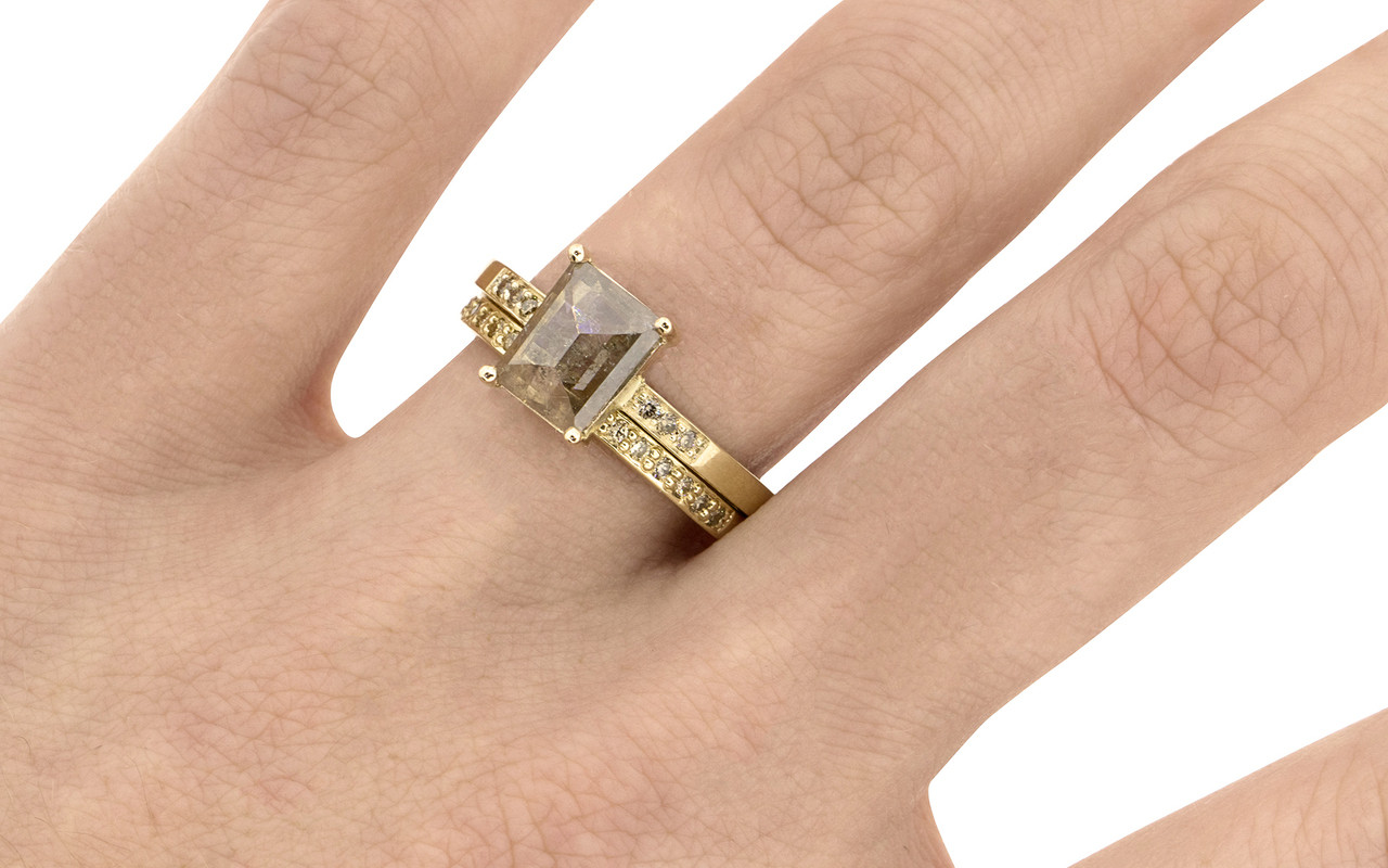 front product radiant radiantcut in gold yellow rings solitaire rose diamond ring leonora uk cut rectangular view engagement