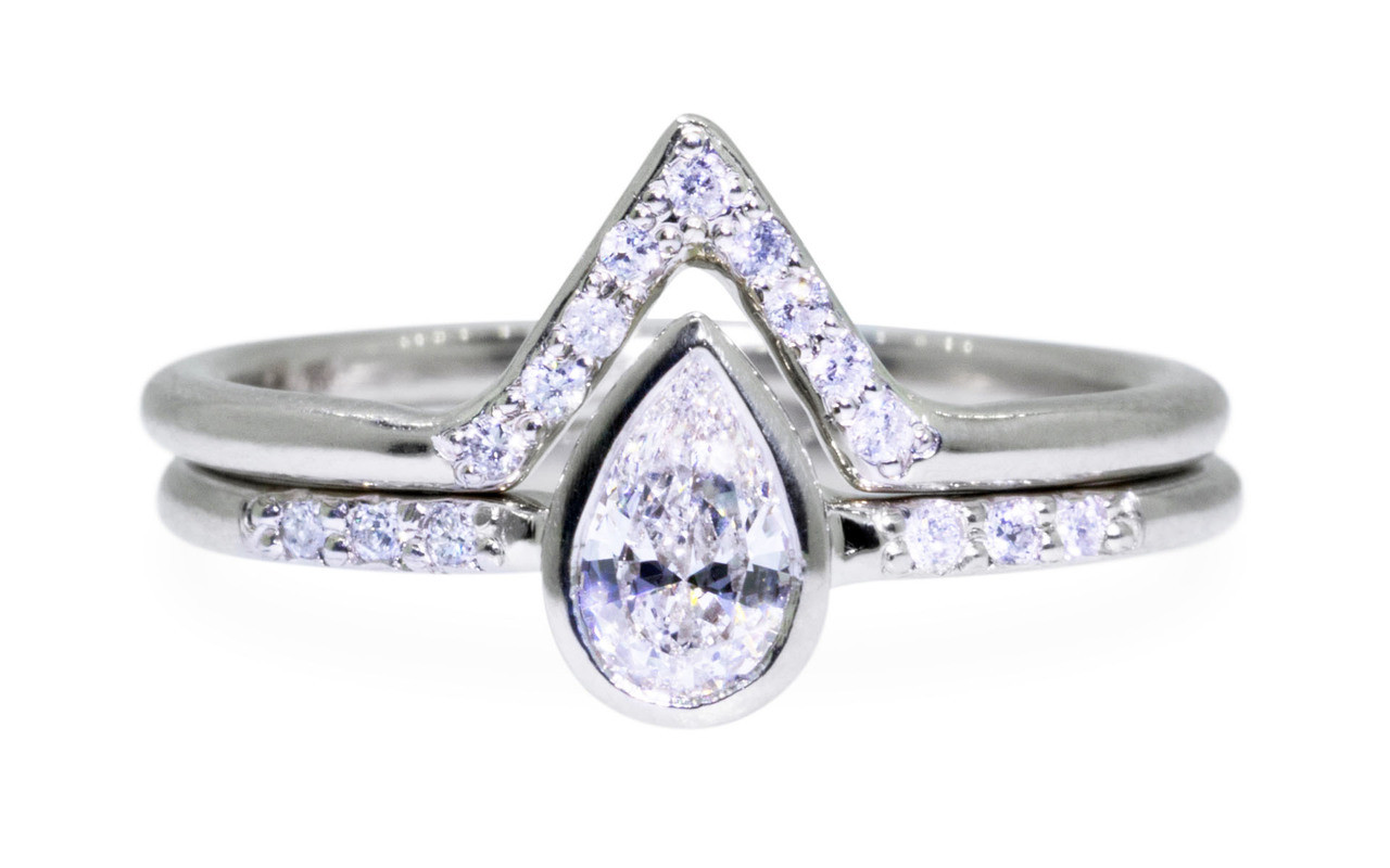 rings diamond classic engagement solitaire pin band triangular tapered ring dome trillion