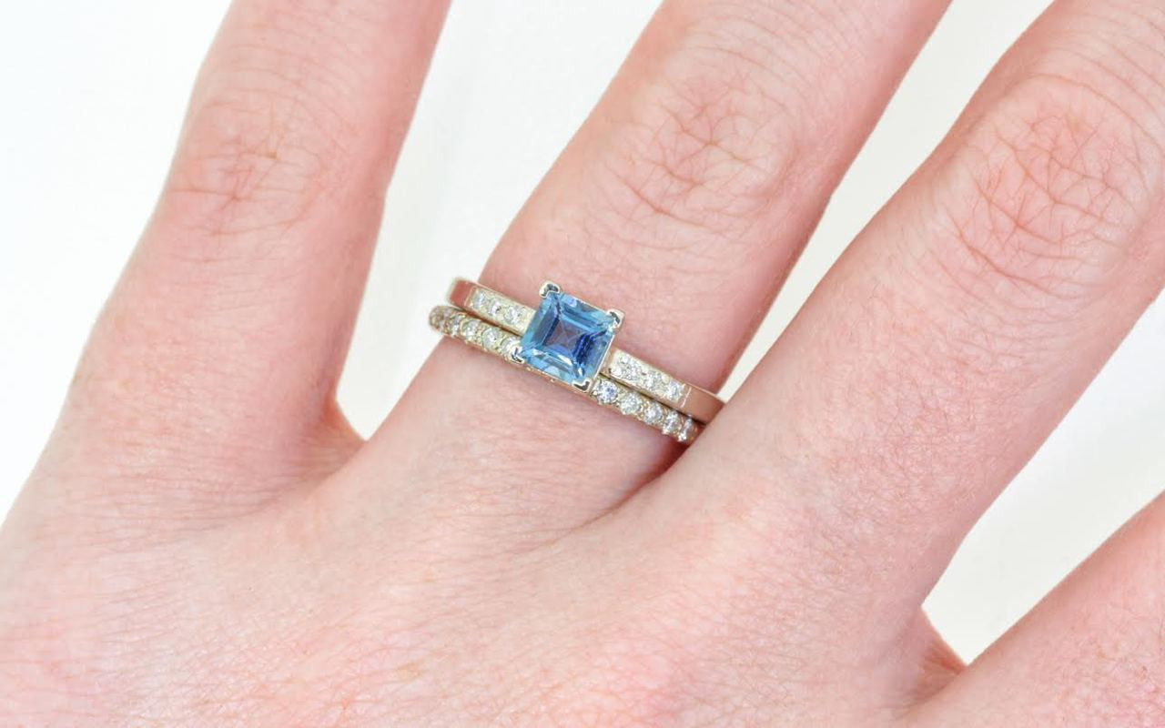 58 Carat Aquamarine Ring in White Gold - CHINCHAR•MALONEY