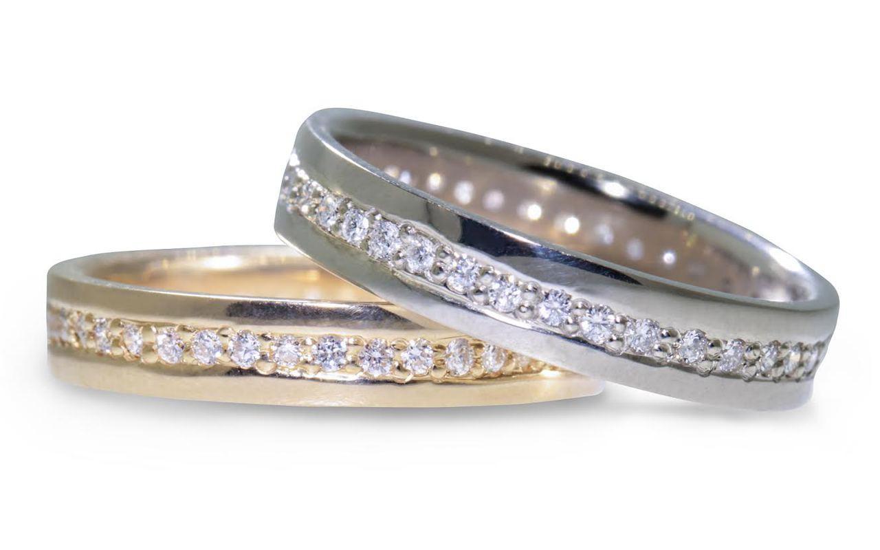 CM Eternity Wedding Band with White Diamonds CHINCHARMALONEY