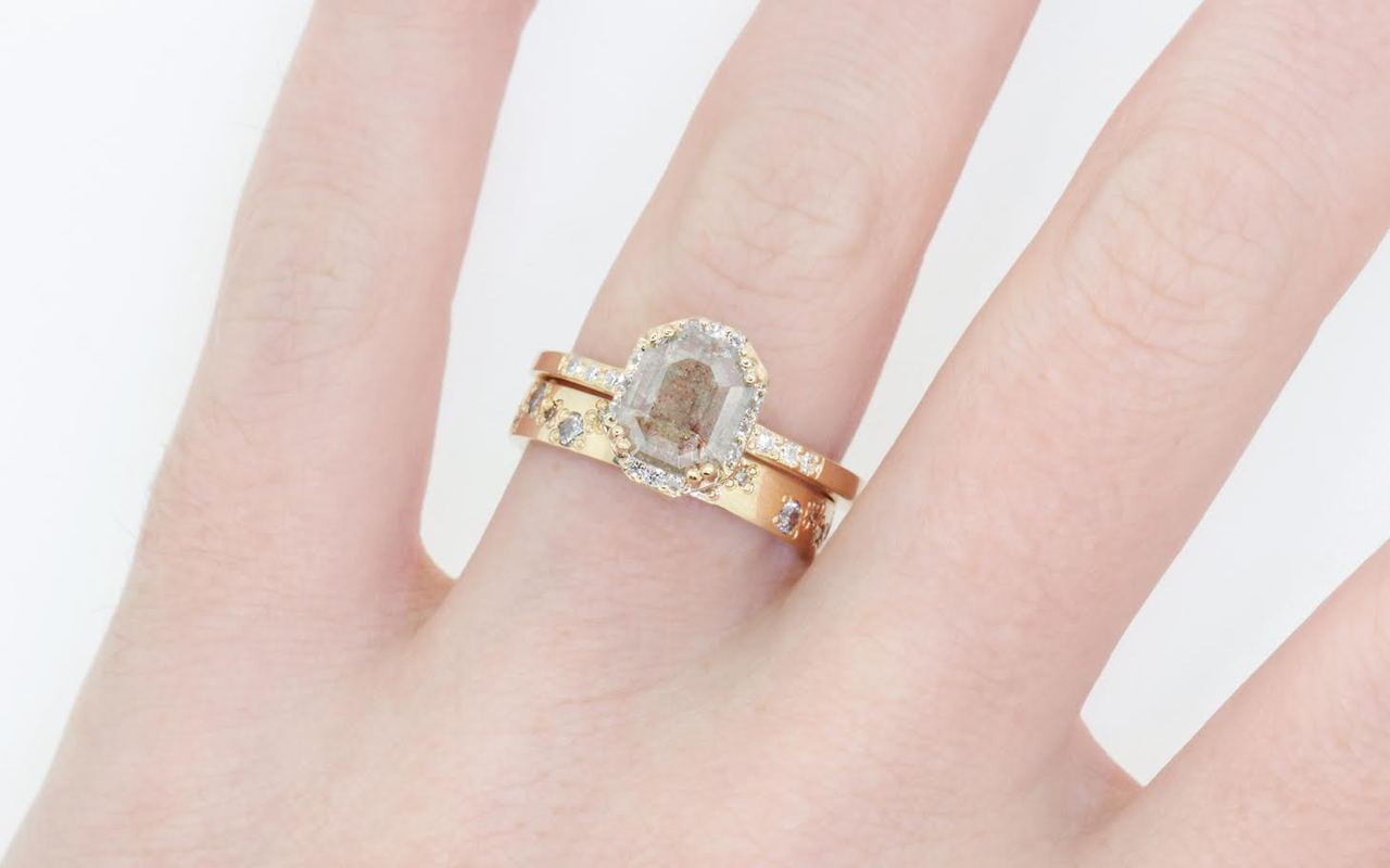 engagement bands ring white rings wedding band diamond images promise on and about pinterest the gold three