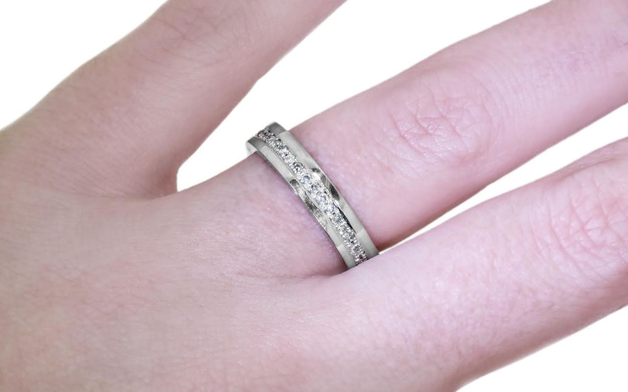 CM Eternity Wedding Band with Gray Diamonds - CHINCHAR•MALONEY