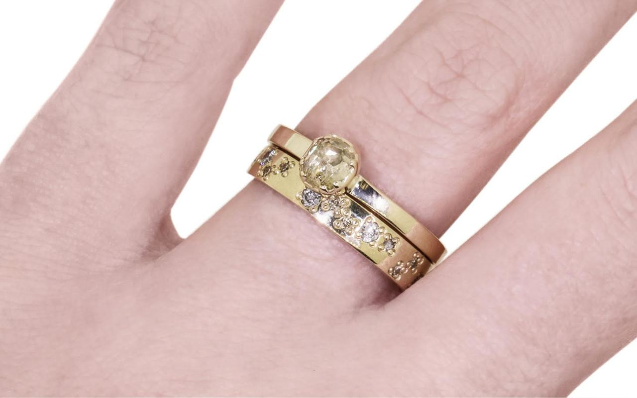 56 Carat Champagne Diamond in Yellow Gold -Chinchar/Maloney