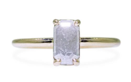 .58 Carat Gray Diamond Ring in Yellow Gold