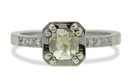 MAROA Ring in White Gold with .50 Carat Light Gray/Champagne Diamond