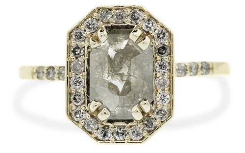 KATLA Ring in Yellow Gold with .60 Carat Gray Diamond