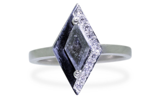 TOBA Ring in White Gold with .63 Carat Salt and Pepper Diamond