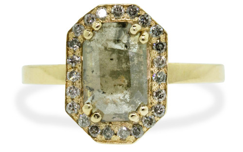 KATLA Ring in Yellow Gold with 1.07 Gray Diamond