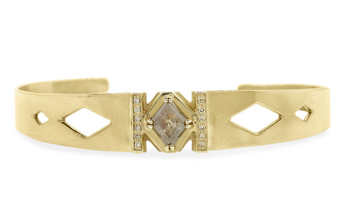 MERU Bracelet in Yellow Gold with .93 Carat Peach Diamond