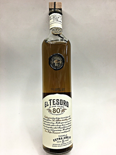 El Tesoro 8 Year Old Extra Anejo Tequila 80th Anniversary