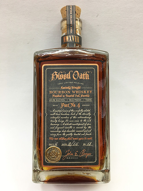 Blood Oath Pact No. 4 Kentucky Straight Bourbon Whiskey