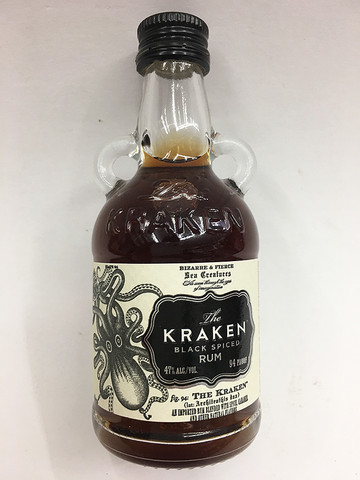The kraken black spiced rum 50ml mini quality liquor store for Mix spiced rum with
